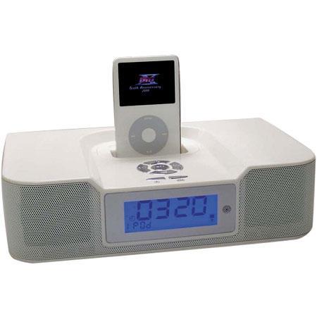 CTA Digital Sound Awake AM/FM Radio Alarm Clock with iPod V, nano & mini Dock image