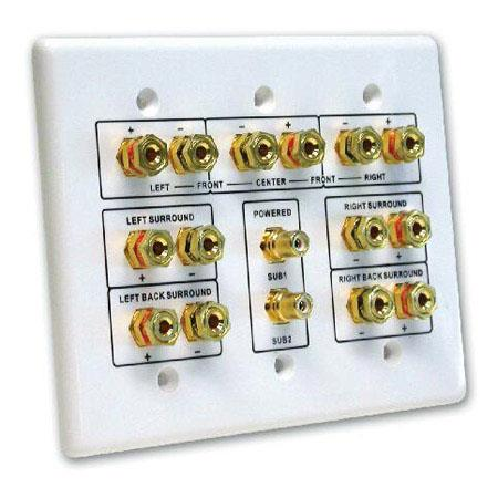 Comprehensive Home Theater 7.2 3 Gang Wall Plate
