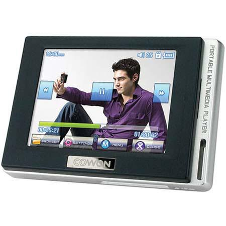 "Cowon D2 4 GB MP3 & Video Player with 2.5"" LCD, JPEG, WAV, MPEG, TXT, FM & Line-in Recording, Black image"