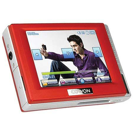 "Cowon D2 4 GB MP3 & Video Player with 2.5"" LCD JPEG, WAV, MPEG, TXT, FM & Line-in Recording, Red image"