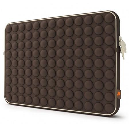 "Cygnett Aerosphere Sleeve with Bubbles of Comfort for 15"" MacBook Air, MacBook or MacBook Pro, Brown"