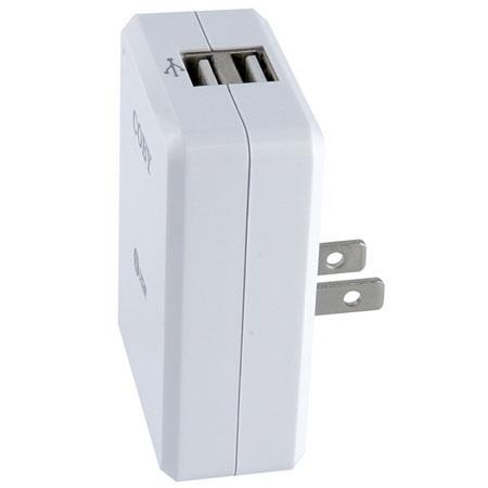 Coby Dual USB AC Adapter/Charger for MP3 Players image