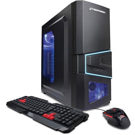 Discount Electronics On Sale CyberPowerPC Gamer Ultra GUA470 Gaming Desktop Computer, AMD A6-6400K Dual-Core 3.9 GHz, 4GB RAM, 500GB HDD, AMD Radeon HD 8470D, Windows 8.1 (Free Upgrade to Win 10)