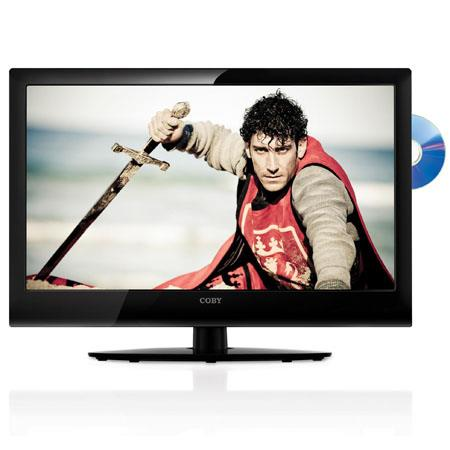 "Coby 23"" Class LED High-Definition TV with DVD Player, 1920x1080 Display Resolution, 8 ms Response Time, 1000:1 Contrast Ratio, USB Port"