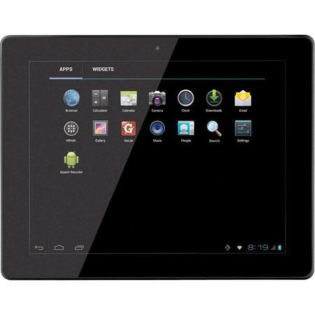 "Coby 9.7"" Android 4.0 Capacitive Multi-Touch Tablet, 1GHz Telechip Allwinner Cortex A8, 1GB RAM, 8GB Flash, 4:3 Aspect Ratio, 802.11b/g/n Wi-Fi"