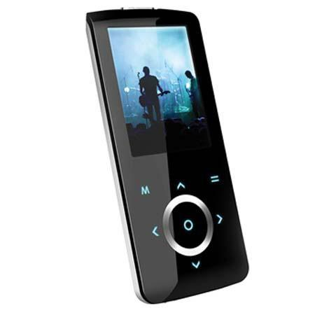 "Coby MP-705 4 GB Super Slim MP3 & Video Player with 2"" TFT LCD & Touchpad Control - Black image"