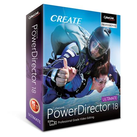 CyberLink PowerDirector 18 Ultimate for PC, DVD and Download Code