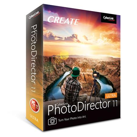 CyberLink PhotoDirector 11 Ultra for PC & Mac, DVD and Download Code