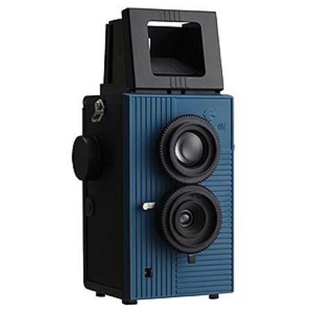 Blackbird Fly 35mm TLR Twin Lens Reflex Camera - Black with Blue Face image
