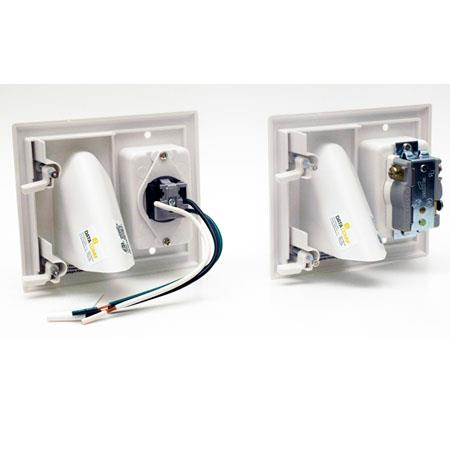 DataComm Electronics Recessed Pro-Power Kit with Straight Blade Inlet