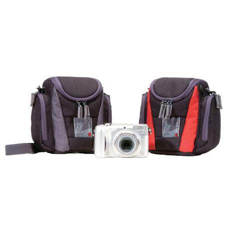 Delsey GOPIX 50BR, Compact Camera Case for Digital Compact Camera, Video Camera or CD Player, Color: Black/Red