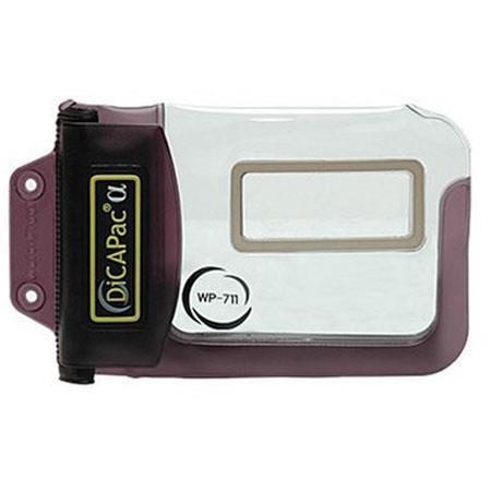 DiCAPac WP711 Alpha Underwater Waterproof Case for Digital Point and Shoot Inner Zoom Lens Cameras - Black