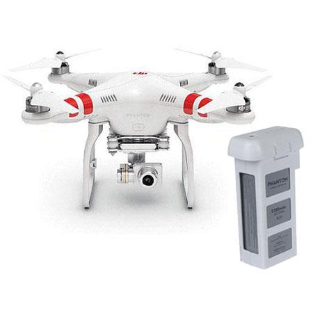 DJI Phantom 2 Vision+ Quadcopter Flying Camera Bundled with Spare Phantom Battery
