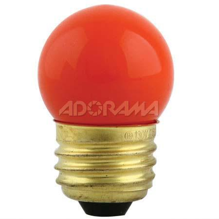 Adorama Mini Darkroom Safelight Bulb, 7.5 Watt Light Amber (OC) Filtered image