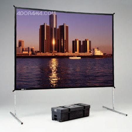 "Da-Lite Deluxe Fast-Fold, Portable Free Standing Projection Screen, 7'-6""x10', Video Format, Dual-Vision Surface (Front and Rear Projection)"