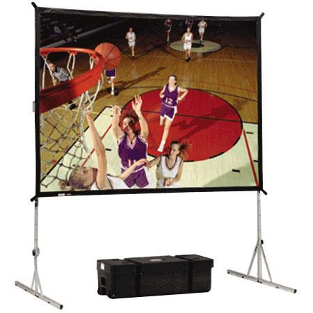 Da-Lite Standard Fast-Fold, Portable Free Standing Rear Projection Screen, 7' x 7', Da-Tex Surface. image