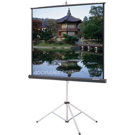 "Da-Lite Picture King Tripod Mounted Projection Screen, 70"" x 70"", 99"" Diagonal, Glass Beaded Surface. image"