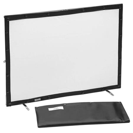 "Da-Lite Mini Fold Tabletop Projection Screen, 21x30"", Da-Tex (rear projection) Material and Da-Mat (front projection) Material."