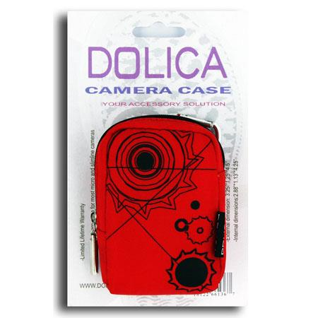 Dolica Designer Camera Case for Ultra-Slim Digital Cameras, Red