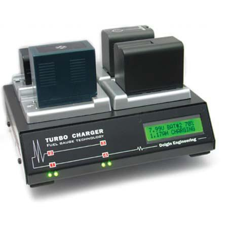 Dolgin Engineering TC400 4-Position Charger (120-240V) with TMC Test Module for Panasonic DVX 100 & Similar Camcorder Batteries