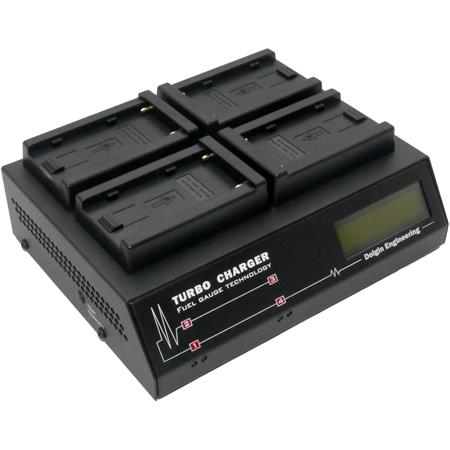 Dolgin Engineering TC400 4-Position Charger (120-240V) for Sony NP-F770, NP-F970, NP-F975 L-Series Info-Lithium Battery Pack
