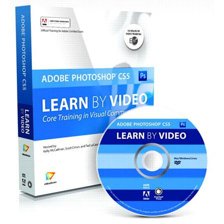 "Peachpit Press - ""Learn Adobe Photoshop CS5 by Video: Core Training in Visual Communication"", 21 Hour Training DVD-ROM with 120 Page Full-color Printe"