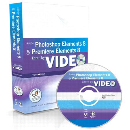 Peachpit Training DVD - Learn Adobe Photoshop Elements 8 and Adobe Premiere Elements 8 by Video, Video2Brain