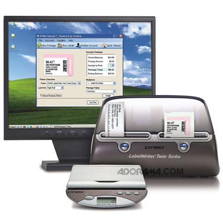 DYMO 69270 Twin Turbo Desktop Mailing Solution with LabelWriter Twin Turbo printer and USB Postal Scale image