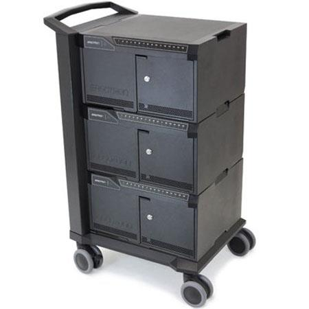 Ergotron Tablet Management Cart with ISI, Three Modules for iPad/iPod