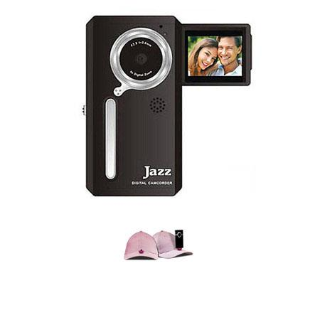 Jazz Pocket DV152 Digital Camera/Camcorder, Bundle - with Hatcam HC10 Hat with Universal Mount, for Hands Free Video Recording - Pink