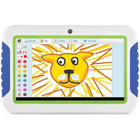 "Ematic FunTab 2 7"" Kid Safe Tablet, ARM Cortex A8 Processor 1.2GHz, 512MB RAM, 4GB Flash Storage, Android 4.1 Jelly Bean"