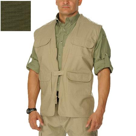 Eotac Discreet Series, Operator Grade Lightweight Concealed Carry Vest, 7 oz. All-Cotton Ripstop - Color: OD Green, Size: X-Large image