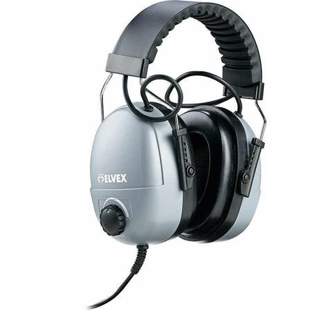 Elvex Com-610 Plug-In Receiver Earmuff with 3.5mm Stereo Plug, 82dB Limiter