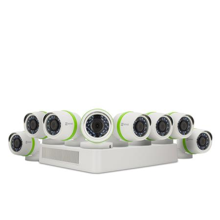 EZVIZ Everyday 1080p 16CH Video Home Security System, Includes DVR with 2TB HDD, 8x 1080p HD Outdoor Bullet Cameras, USB...