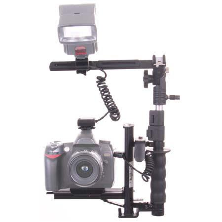 "RPS Studio Rotating ""Tilt"" Flash Bracket with ETTL2 Cord for Canon EOS Rebel Style Digital SLR Cameras (2.5 Mini Plug)"