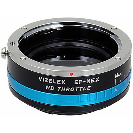 Fotodiox Fotodiox Vizelex ND Throttle Lens Mount Adapter from Pro - Canon EOS EF Lens to Sony NEX E-Mount Camera