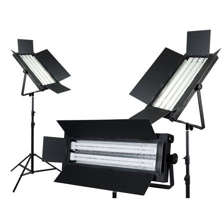 FloLight KIT-FL-2200AWD3GR Green Screen Lighting Kit with 2 FL-220AWD Light, 1 FL110AWD Light and 2 FL-330AWD Light