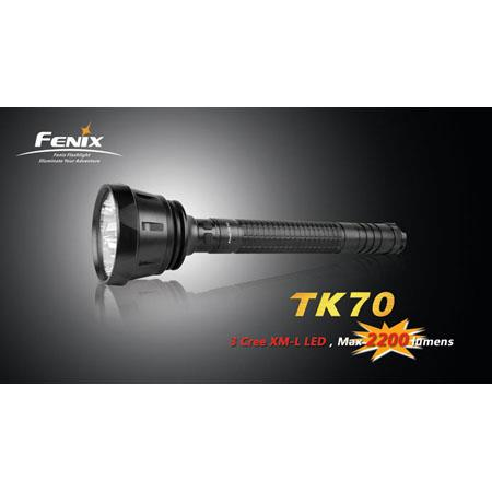 Fenix TK70 Cree XM-L LED 2200 Lumens Flashlight, Black