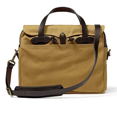 Filson Twill Original Water-Resistant Briefcase, Tan