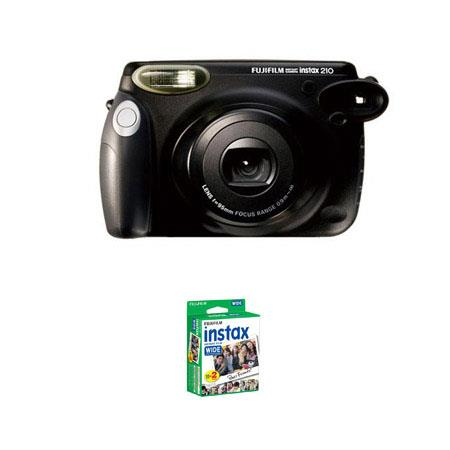 Fujifilm Instax 210 Instant Photo Camera Kit with Fujifilm Instax 200 Instant Color Print Film, ISO 800, 20-Pack