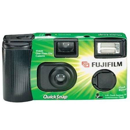 Fujifilm QuickSnap Flash, One Time Use Disposable Camera with 27 Exposures of Superia X-TRA Film and Quick Flash System.