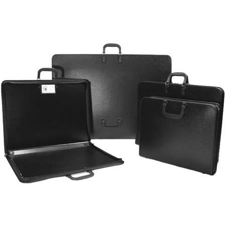 "Florence Art Portfolio Basic, Zippered Portfolio Case with Inside Name Card Holder, 17"" x 22"" x 1.5"", Color: Black. image"