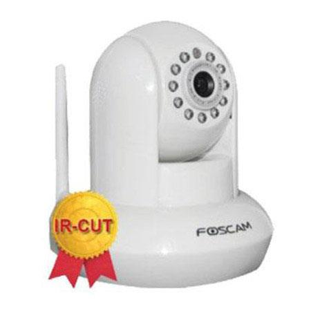Foscam FI8910W Wireless IP Camera with CMOS Sensor, 640x480 Resolution, IR-Cut Filter, Night Visibility Up to 8m, White