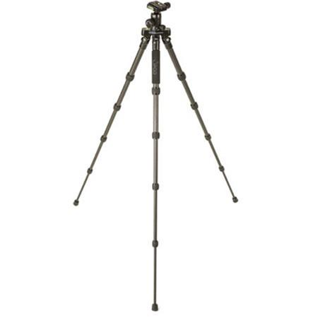 3Pod P5CFH 8X Carbon Fiber 5 Section FlatFold Tripod with K2 BallHead