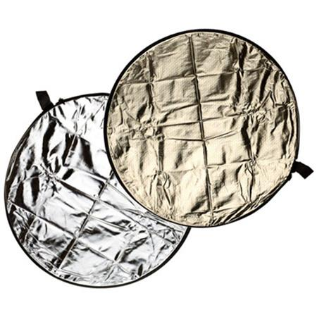 "Flashpoint 52"" Circular Collapsible Disc Reflector, Silver / Soft Gold image"
