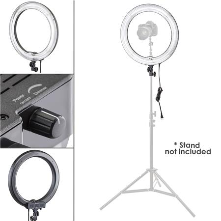 Flashpoint 19 Quot Fluorescent Ac Powered Dimmable Ring Light