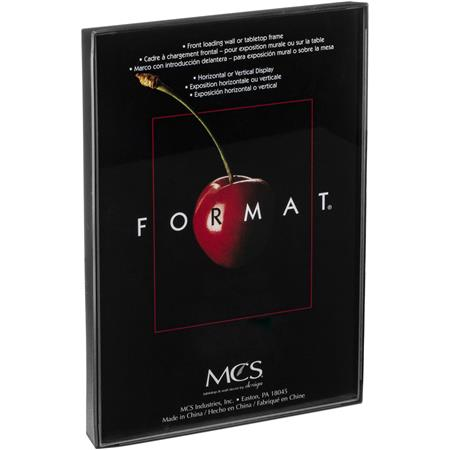 "MCS Plastic Format Frame for a 12"" x 16"" Photograph, Color; Black image"