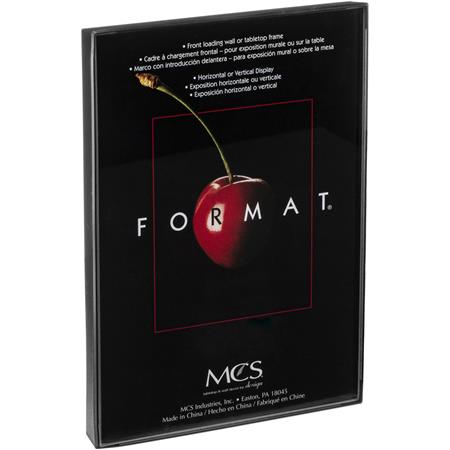 "MCS Plastic Format Frame for a 5"" x 7"" Photograph, Color; Black image"