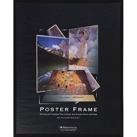 "MCS Acrylic & Corrugated Back Poster Frame for a 12"" x 18"" Photograph, Black #22219 image"