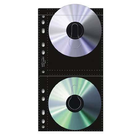 Print File Archival CD / DVD Storage Pages, 4 CD's Per Page, Pack Of 25 image